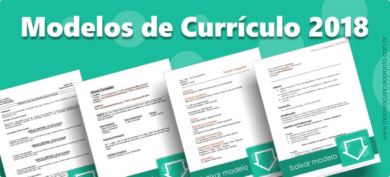 Modelos de Currículo 2018